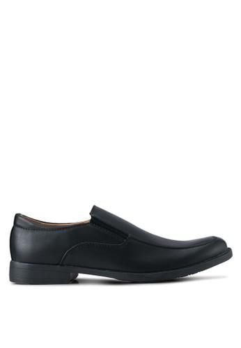 UniqTee black Formal Slip On Shoes UN097SH0SYSGMY_1