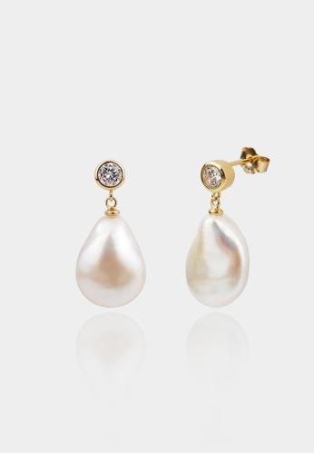 monojewelry BAROQUE PEARL EARRINGS AB379ACDC3F134GS_1