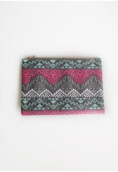 Colored Aztec Clutch