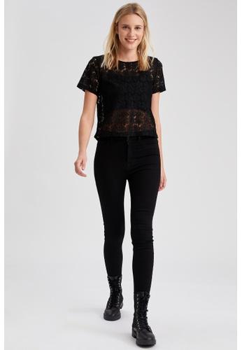DeFacto black High Waist Super Skinny Jeans 98425AAABDF36BGS_1