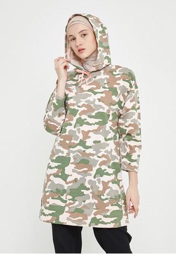 MFMW green and multi and beige MFMW Rashida Hoodie Camouflage 1A607AA61C94C8GS_1