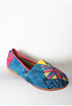 Letter Canvas Foldable Shoes