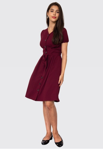 L'zzie red LZZIE DEBBY DRESS - RED CF3C6AA96F57ACGS_1