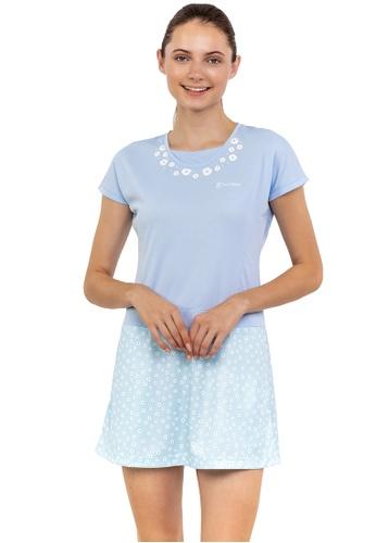 Huitieme blue HUITIÈME DRI FIT FLORAL PANEL LIGHT BLUE DRESS. 2375FAAAFFA4EFGS_1