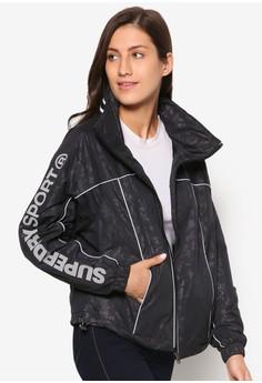 反光邊飾迷彩運動外套