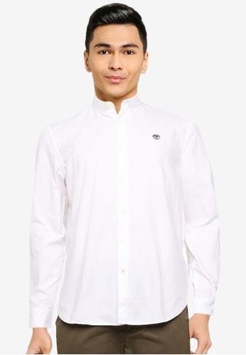 Timberland white Ela River Elevated Oxford Shirt (Slim) 7E1E7AAF7BEB3FGS_1