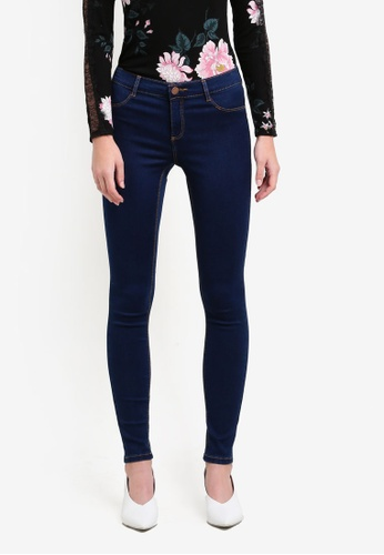 Dorothy Perkins blue Regular Length Indigo Frankie Jeans DO816AA0S4TUMY_1