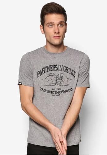 Partners 文字圖樣設計esprit sg短袖TEE, 服飾, T恤