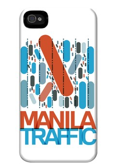 Manila Traffic Matte Hard Case for iPhone 4, iPhone 4s
