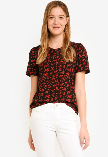 Vero Moda black Sandy Short Sleeve Top A479BAA95CDE5EGS_1