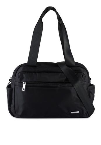 NUVEAU black Lightweight Nylon Shoulder Bag 9AA2BAC5117675GS_1
