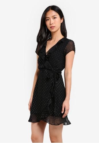 Bardot black Foil Spotty Dress BA332AA0SBIZMY_1