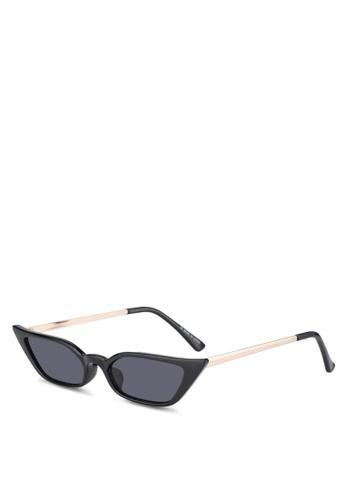 River Island black Bella Super Slim Visor Sunglasses BFC47GLE874884GS_1