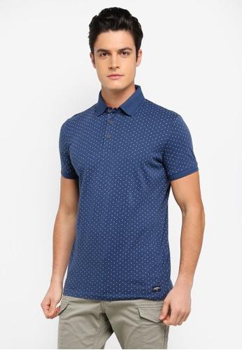 ESPRIT blue Short Sleeve Polo Shirt 77EA7AA7E624D5GS_1