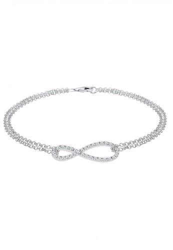 ELLI GERMANY Elli Germany 925 Sterling Silver Gelang Infinity Swarovski Crystals Putih