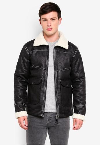 Indicode Jeans 黑色 刷毛皮夾克 8F9BEAA6F2DCF5GS_1