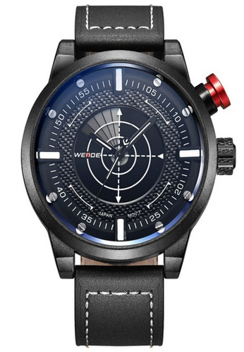 Weide black Weide Wh5201 Men's Radar Alike Quartz Sports Watch (Full Black) WE079AC15RIYMY_1