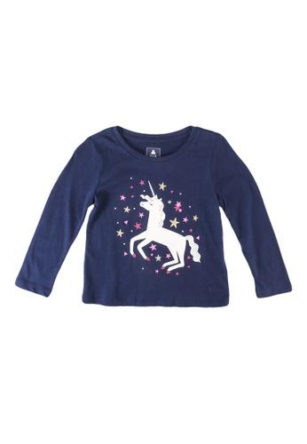 GAP navy Long Sleeve Printed T-Shirt 44CE0KA4005B7BGS_1