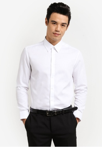 G2000 white Long Sleeve Dot Textured Shirt G2754AA0RDIFMY_1