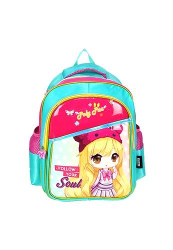 Poly-Pac pink Poly-Pac PK2029 14 inch Kawaii Cartoon Girl Kindy School Bag EAF66KC3F4E709GS_1