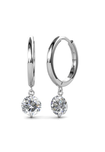 Her Jewellery silver Swarovski® Crystals -Grace Earrings (18K White Gold Plated) Her Jewellery HE581AC0RDPCMY_1