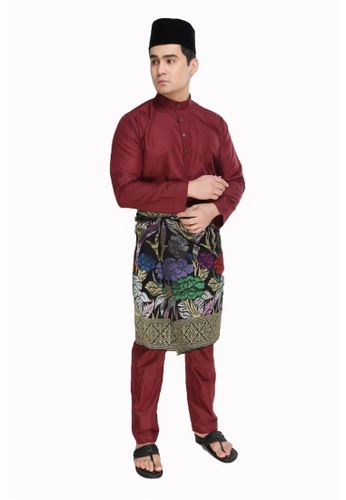 Amar Amran red Baju Melayu Moden AM362AA33UPQMY_1