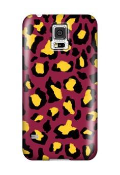 Funky Cheetah Print E Glossy Hard Case for Samsung Galaxy S5