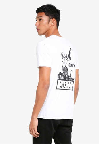 OBEY white Palace Of Power T-Shirt D01EBAAD571B63GS_1