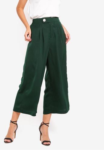 ZALORA green Wide Leg Trousers 2E694AA7ABA28BGS_1