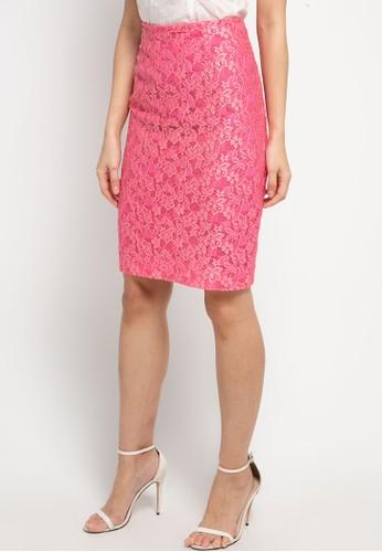 Bateeq pink Skirt Nylon Lace 15/028 F1C31AADA2FA21GS_1