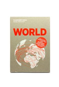 Transparent World Travel Map Diary