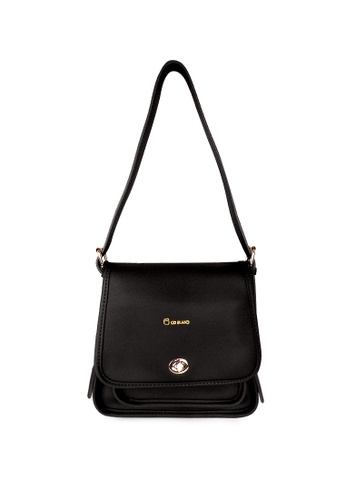 CO BLANC black Co Blanc 22005-0062S Front Flap Sling Bag with Turn Lock 5AED4ACE31AD3DGS_1