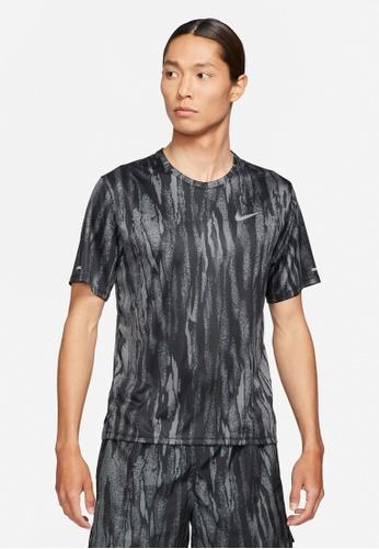 Nike black Men's Dri-Fit Miler Wild Run Top 22DE1AA346076AGS_1