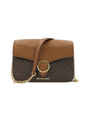 MICHAEL KORS brown Michael Kors Medium Wanda 35T0GW5L2B Shoulder Flap Bag In Brown Acorn EF8A2AC367F57FGS_1