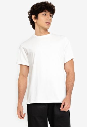 URBAN REVIVO white Basic Short Sleeves T-Shirt 19EC5AA89104B1GS_1