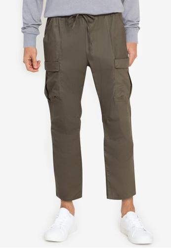 ZALORA BASICS green Cargo Pants 13D2AAAA1E7B7EGS_1