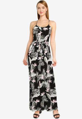 Vero Moda black Simply Easy Slit Maxi Dress 50D30AA10A23E3GS_1