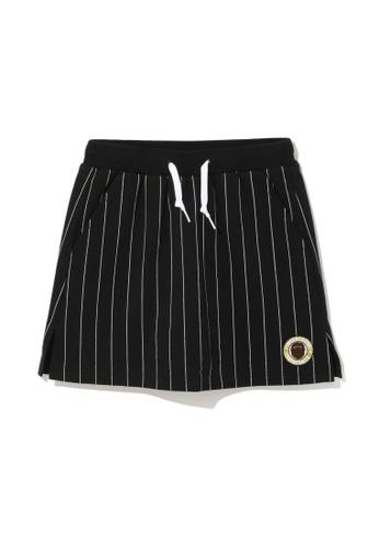 Fingercroxx black Bigfoot striped skirt D1B69AA8C12D4CGS_1