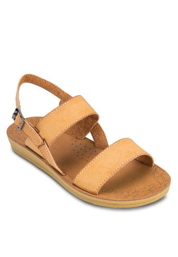 扣環踝帶厚底涼鞋esprit 台北, 女鞋, 涼鞋