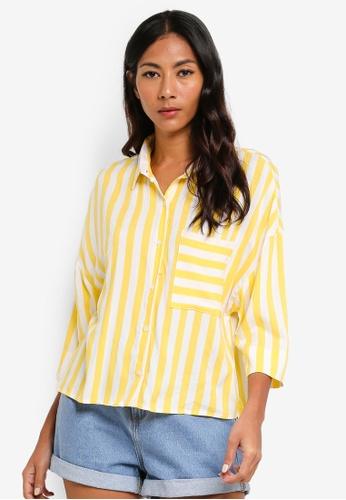Cotton On yellow Rebecca Chopped Shirt DC3A8AA815A3A7GS_1