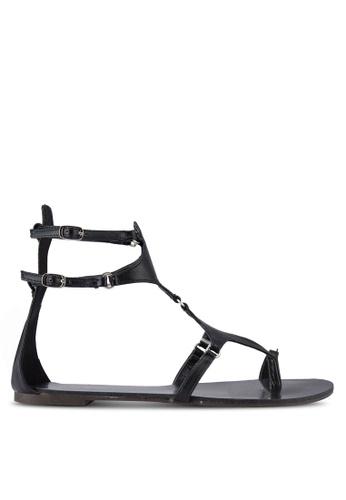 Something Borrowed black Cut Out Toe Ring Flat Sandals 246B1SHC1A3DE5GS_1