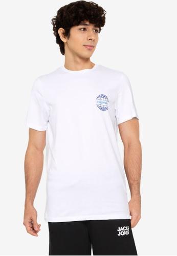 Jack & Jones white Colton Back Print Tee 6D150AA4820760GS_1