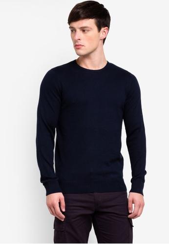 OVS 藍色 圓領針織毛衣 BAFC2AA94899ADGS_1