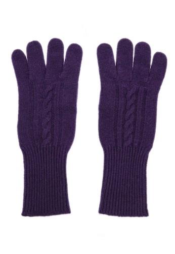 坑條紐繩保暖手套 - 深紫esprit 童裝, 飾品配件, 手套