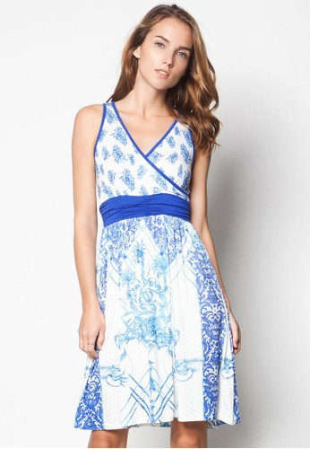 Avidan 裹飾V領束腰洋裝, 服飾esprit taiwan, 洋裝