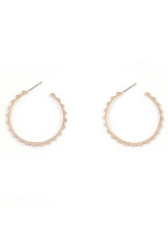 SKEDA gold Pyramid Hoop Earrings FA28EAC0674E0FGS_1