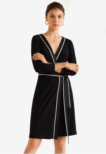 Mango black Bow Wrap Dress 97CFEAA7A2C11DGS_1