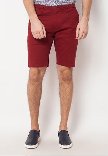 Minarno red Red Chino Shorts 3D51DAA95640C3GS_1