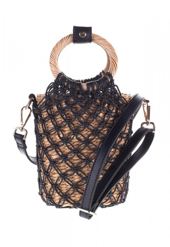 Style Cat black and brown Toulouse Handmade Macrame Woven Sling Bag A89C8ACF5A49AFGS_1
