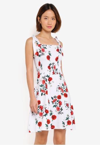 Dorothy Perkins 白色 Ivory Shirred Sundress E4F17AA9D93FE4GS_1